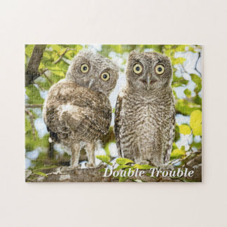 Screech Owls Chicks Jigsaw Puzzle