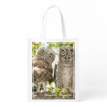 Screech Owls Chicks Reusable Grocery Bag