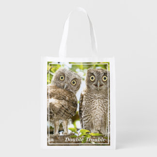 Screech Owls Chicks Reusable Grocery Bag