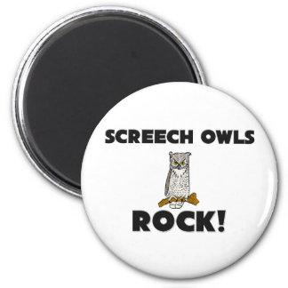 Screech Owls Rock Magnet
