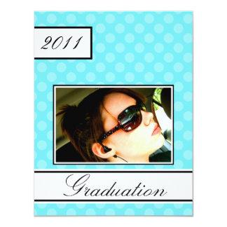Screen Dot Aqua Open House Party Graduation Card