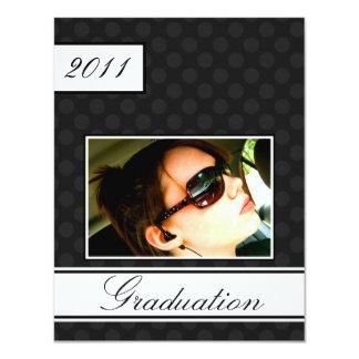 Screen Dot Black Open House Party Graduation Card