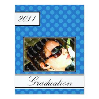 Screen Dot Blue Open House Party Graduation Card