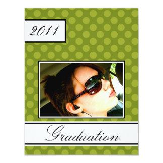 Screen Dot Green Open House Party Graduation Card
