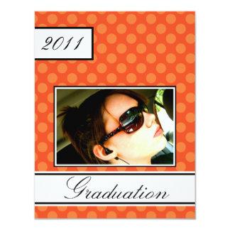 Screen Dot Orange Open House Party Graduation Card
