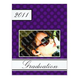 Screen Dot Purple Open House Party Graduation Card
