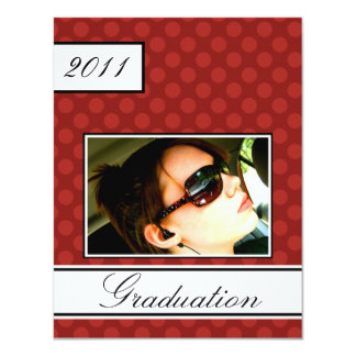 Screen Dot Red Open House Party Graduation Card