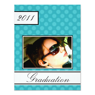 Screen Dot Teal Open House Party Graduation Card