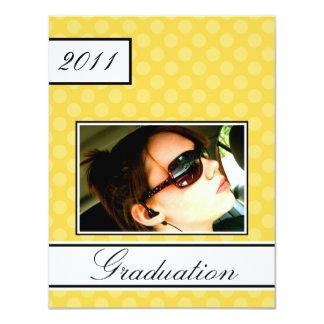 Screen Dot Yellow Open House Party Graduation Card