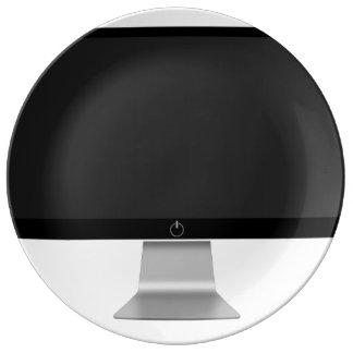 Screen Porcelain Plate