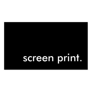 screen print. Double-Sided standard business cards (Pack of 100)