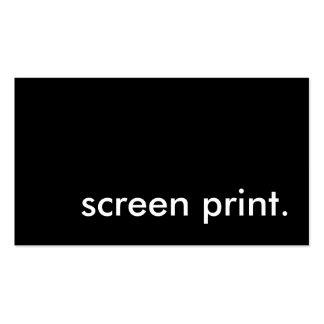 screen print business card template