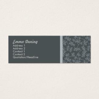 Screen Printed Elegant Mini Business Card