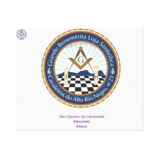 Screen with Logo Freemason CARN Canvas Print