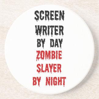Screen Writer Zombie Slayer Drink Coaster