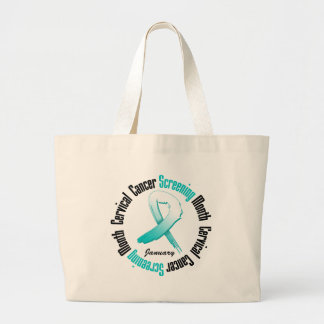 Screening Month January Ribbon - Cervical Cancer Bags