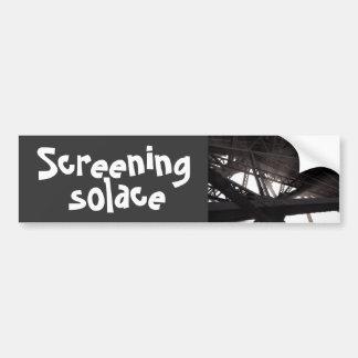 screening solace car bumper sticker