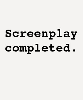 Screenplay completed (Ladies Baseball) T-Shirt