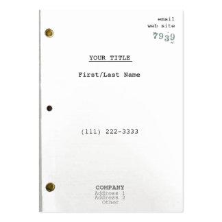 Screenplay II Large Business Card