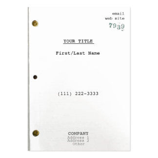 Screenplay IIc Large Business Card