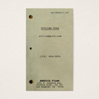 Screenplay Vintage Business Card