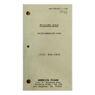 Screenplay Vintage Business Cards