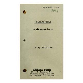 Screenplay Vintage ii Business Card
