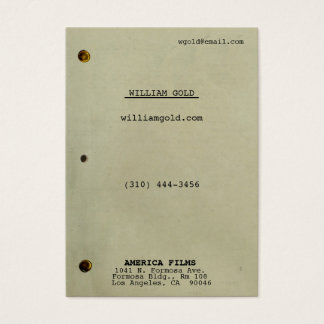 Screenplay Vintage Wide Business Card