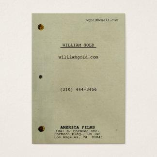 Screenplay Vintage Wide Business Card