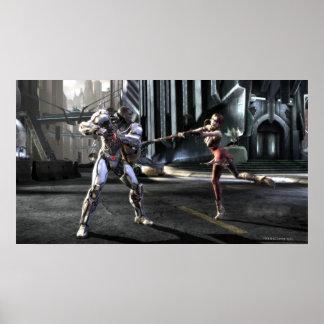 Screenshot: Cyborg vs Harley Poster