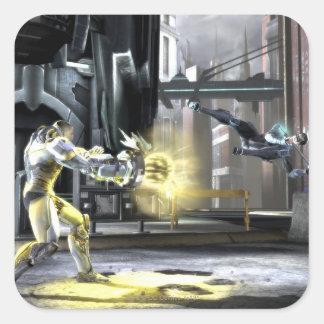 Screenshot: Cyborg vs Nightwing 2 Square Sticker