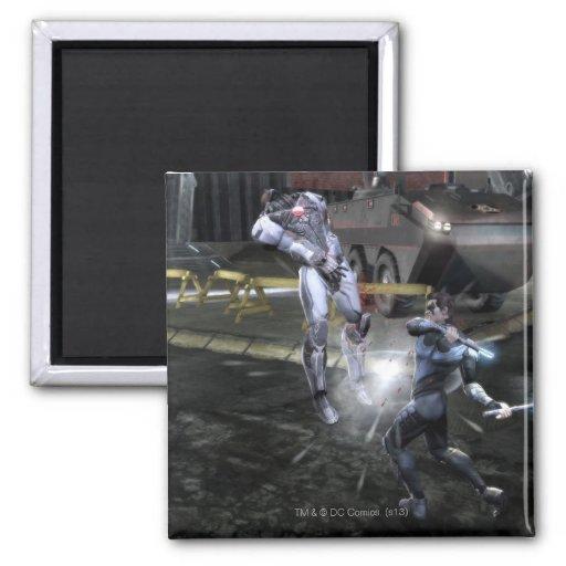 Screenshot: Cyborg vs Nightwing 3 2 Inch Square Magnet