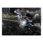 Screenshot: Cyborg vs Nightwing 3 Greeting Card