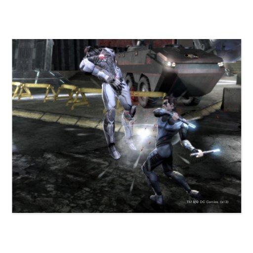 Screenshot: Cyborg vs Nightwing 3 Post Cards