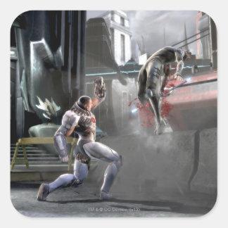 Screenshot: Cyborg vs Nightwing Square Sticker