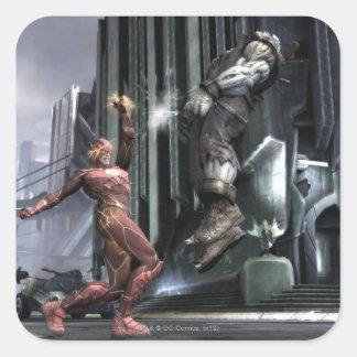 Screenshot: Flash vs Grundy 3 Square Sticker