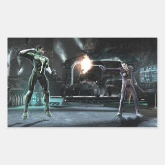 Screenshot: Green Lantern vs Joker Rectangular Sticker