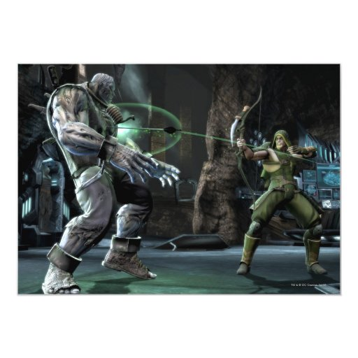 Screenshot: Grundy vs Green Arrow Card