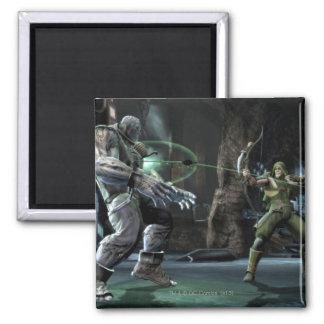 Screenshot Grundy vs Green Arrow Fridge Magnet