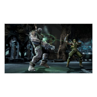 Screenshot: Grundy vs Green Arrow Poster