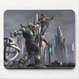 Screenshot: Grundy vs Wonder Woman Mouse Pad