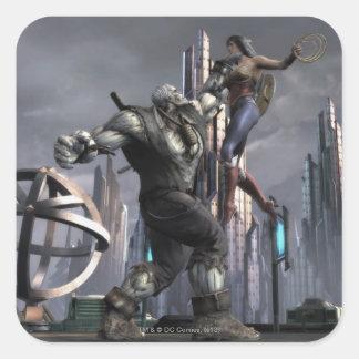 Screenshot: Grundy vs Wonder Woman Square Sticker