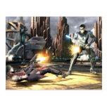 Screenshot: Harley vs Nightwing Postcard