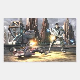 Screenshot: Harley vs Nightwing Rectangular Sticker