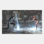 Screenshot: Nightwing vs Flash Rectangle Sticker