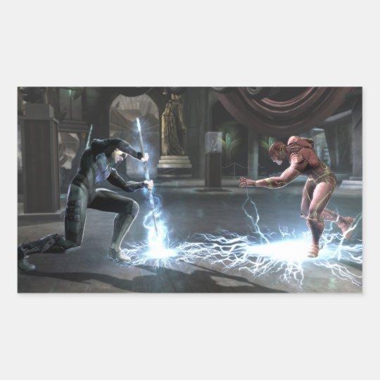 Screenshot: Nightwing vs Flash Rectangular Sticker