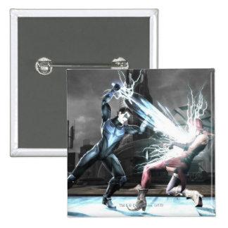Screenshot: Nightwing vs harley Pinback Button