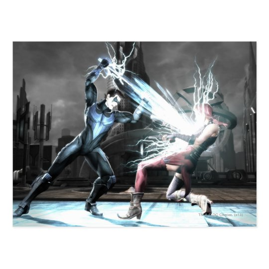 Screenshot: Nightwing vs harley Postcard