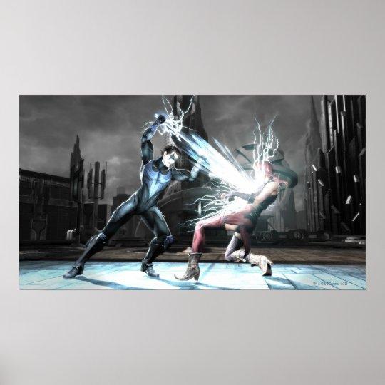 Screenshot: Nightwing vs harley Poster