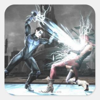 Screenshot: Nightwing vs harley Square Sticker
